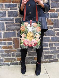 Leather Tote / Laptop bag Tropical Exclusive range by tovicorrie