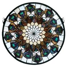 Medallion Stained Glass Window