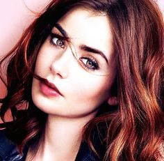 Love lily collins makeup!