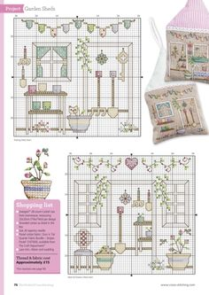Garden Sheds .ru / Фото - The world of cross stitching 228 - tymannost Cross Stitch House, Cross Stitch Boards, Cross Stitch Tree, Mini Cross Stitch, Cross Stitch Flowers, Cross Stitch Kits, Cross Stitch Designs, Cross Stitch Patterns, Cross Stitching