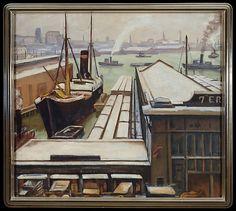 Samuel Halpert (American, 1884–1930). East River, 1913–14. The Metropolitan Museum of Art, New York. Gift of Dr. Wesley and Mrs. Carolyn M. Halpert, in honor of Olga Raggio, 1999 (1999.426) #newyork #nyc