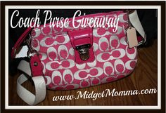 Coach Purse Giveaway    Carry my camera in style.  And it's PINK