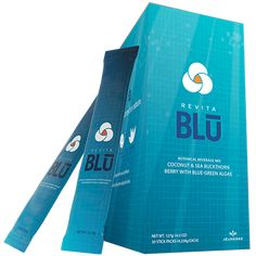 RevitaBlu is a botanical blend of blue-green algae, sea buckthorn berry and aloe vera with coconut water powder. It's a refreshing drink mix that tastes as great as it work Stem Cell Research, Green Algae, Stem Cells, Refreshing Drinks, Say Hello, How To Fall Asleep, Flower Power, The Cure, Berries
