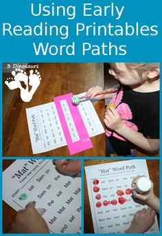 Using Early Reader Printables: Word Paths -  BOB Books Set 1 Book 1 - 3Dinosaurs.com