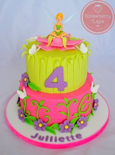 Tinkerbell Cake inspired by Amarantos Cakes design (by Strawberry Lane Cake Company)