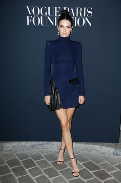 See Kendall Jenner wearing MINNY to the Vogue Foundation Dinner in Paris.