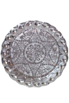 Thali Tray by Matta. Hand crafted in India from lightweight aluminum.