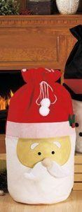 """Santa Jumbo Extra Large Christmas Gift Bag 35"""" X 23"""" by Christmas Delights. Save 17 Off!. $25.00. This reusable Huge Plush Santa Gift Bag will bring smiles and delightful memories for years to come. Use Santa bags to quickly wrap large or oddly shaped items, giving them an extra special touch for the holidays. Each Santa bag has a drawstring top to keep the contents secure and concealed. Each measures 35"""" x 23"""". Made of polyester. Hand wash only; imported.. This reusable Huge ..."""