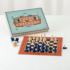 Chess and Checkers set from The Land of Nod. Free shipping!