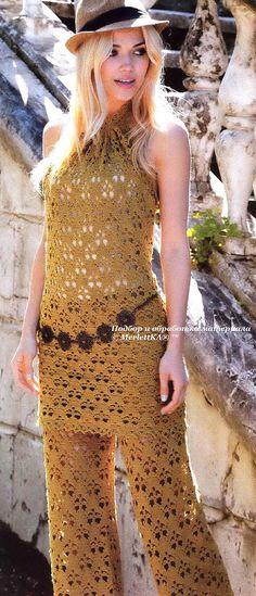 Crochet - una gran colección de vestidos exquisitos (Brujas, de encaje irlandés…