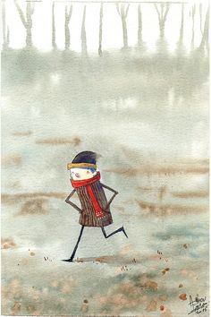 Autumn #parky #illustrationchild #watercolor http://ailustra.blogspot.com.br/