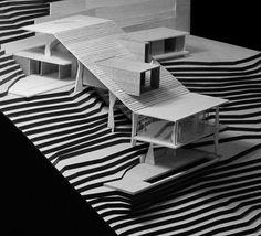 Max Núñez Arquitectos Minimal Architecture, Architecture Student, Concept Architecture, Architecture Details, Hall Design, Arch Model, Parking Design, Design Model, Exterior Design