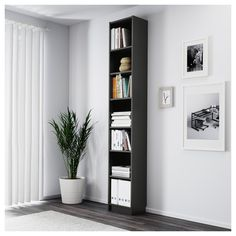 IKEA offers everything from living room furniture to mattresses and bedroom furniture so that you can design your life at home. Check out our furniture and home furnishings! Tall Bookshelves, Narrow Shelves, Ikea Billy Bookcase, Ladder Bookcase, Bookcase White, At Home Furniture Store, Modern Home Furniture, Ikea Canada, Bookshelf Design