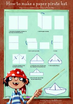 Paper hat template - The Jolley Rogers and the cave of doom