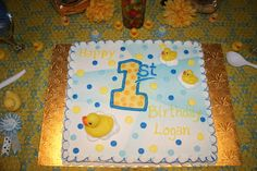"Photo 2 of 8: Rubber Duck/Polka Dot / Birthday ""1st Birthday Party"" 