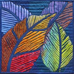 AUTUMN SPLENDOR by Nancy Messier made with my color and indigo dyed fabric