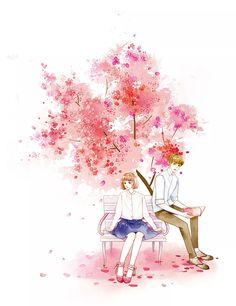 New anime art illustration behance Ideas Cute Couple Drawings, Cute Couple Art, Anime Love Couple, Cute Anime Couples, Anime Cupples, Kawaii Anime, Couple Illustration, Illustration Art, Desenhos Love