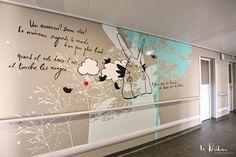 Scénographie et design mural pour le service onco-hématologie pédiatrique de l'Hôpital de la Timone à Marseille