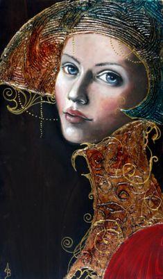 Art by Angela Betta Casale Art And Illustration, Illustrations, Art Visage, Betta, Inspiration Art, Medium Art, Face Art, Figurative Art, Mixed Media Art