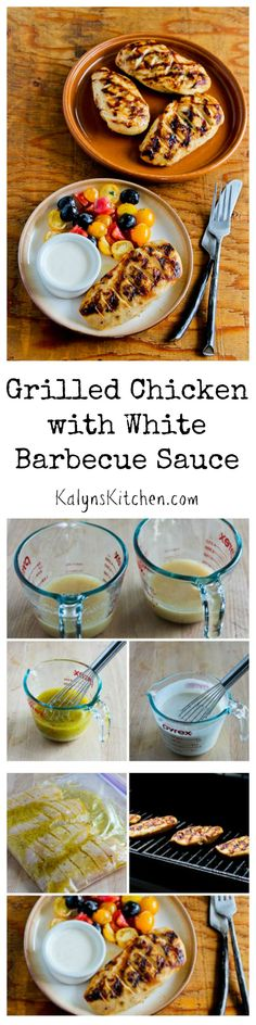 This unique Grilled Chicken with White Barbecue Sauce is the perfect ...