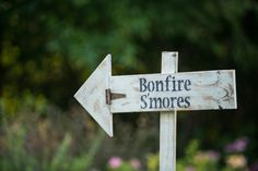 Gone Country Celebration  | White Peacock Events | @whitepeacockstyle | Bryan Jonathan Weddings :: Yard Sign :: Bonfire & S'mores!