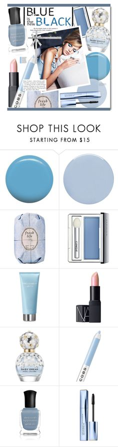 """Blue is The New Black"" by kusja ❤ liked on Polyvore featuring beauty, Jin Soon, Deborah Lippmann, Fresh, Clinique, Dolce&Gabbana, NARS Cosmetics, Marc Jacobs, Alasdair and Estée Lauder"