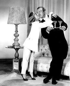June Allyson & David Niven in the 1956 remake of ''My Man Godfrey''…