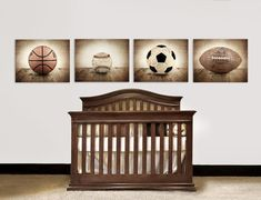 These are PHOTO paper prints. If you want the canvas ready to hang please click the link below. This listing is for four Photo Prints on lustre paper of a 1950s vintage football, a soccer ball, baseball, and basketball. This would be a perfect set for your little boys room, nursery or man cave! Little Boys Rooms, Baby Boy Rooms, Baby Boy Nurseries, Kids Rooms, Baby Room, Basketball Photos, Football And Basketball, Soccer Ball, Baby Baseball