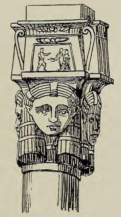 Cappitello athorico con le teste di Athor e la dea Iside