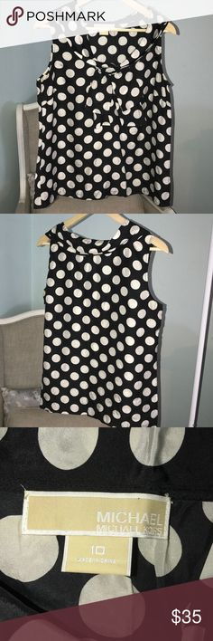 Michael Kors Polka Dot Top Size 10 This needs to go under your favorite blazer. So cute for the office or dress it up further. Size 10 EUC from a smoke free home. Michael Kors Tops Blouses