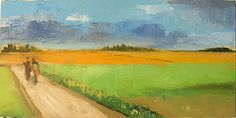 Dutch Road by Barbara Berger Oil ~ 12 inches x 24 inches
