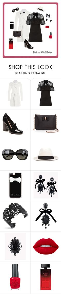 """""""Black and white collection"""" by michelechambers ❤ liked on Polyvore featuring Ralph Lauren Black Label, self-portrait, ALDO, Ted Baker, Bottega Veneta, Yohji Yamamoto, Casetify, Dsquared2, Lime Crime and OPI"""