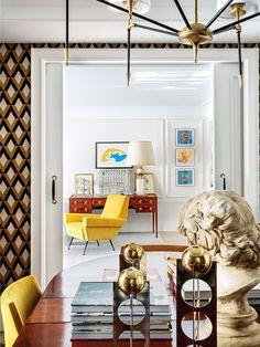 〚 Bold apartment of extravagant architect Jean Porsche in Madrid 〛 ◾ Photos ◾Ideas◾ Design Contemporary Interior Design, Luxury Interior Design, Best Interior, Contemporary Furniture, Interior Decorating, Living Room Arrangements, World Of Interiors, Small Room Bedroom, Apartment Interior