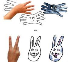 Om je hand een lijn trekken en tekenen maar