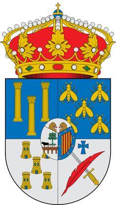 Escudo de la Provincia de Salamanca - España. La provincia de Salamanca es una provincia española, situada en el sudoeste de la comunidad autónoma de Castilla y León. Su capital es la ciudad de Salamanca. Limita con la provincia de Zamora al norte, con la de Valladolid al noreste, con la de Ávila al este, con la de Cáceres al sur y con Portugal al oeste. Tiene una superficie de 12.349,95 km² y en 2011 contaba con 352.986 habitantes