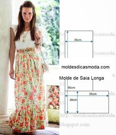 Find a great selection of skirt designs and learn how to design your own skirts for any figure, style, or size. You'll have professionally looking and stylish skirts. Sloper Pattern The first step … Read Diy Clothing, Sewing Clothes, Clothing Patterns, Dress Patterns, Fashion Sewing, Diy Fashion, Ideias Fashion, Costura Fashion, Diy Kleidung