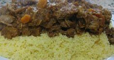 COUS-COUS CON CORDERO Y VERDURAS Hoy os traigo una receta un poco distinta a mi línea habitual, que casi siempre suelen ser rec... Ramen, Pulled Pork, Meatloaf, Grains, Beef, Ethnic Recipes, Food, Vegetables, Essen