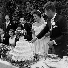 Jackie and John Kennedy on Their Wedding Day | Brides.com