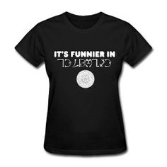 Supernatural Castiel Funnier in Enochian Angel T-shirt S, M, L, XL, XXL