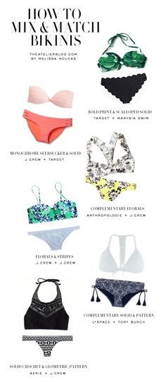 HOW TO MIX + MATCH SWIMSUITS || The Atelier