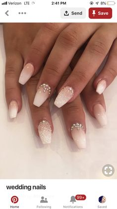 bruiloft nagels The Effective Pictures We Offer You About wedding nails bridesmaid round A quality picture can tell you many things. Wedding Nails For Bride, Bride Nails, Prom Nails, Fall Wedding, Nails For Brides, Wedding Dress, Trendy Wedding, Beach Wedding Nails, Wedding Manicure