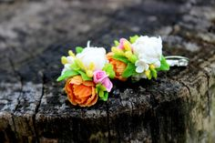 Tender floral earrings for bridal made from by Jewelrylimanska