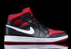 e856fe685821 Air Jordan 1 Mid – Black – Gym Red – White Nike Retro