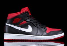 5a1b2eef1ec8d3 Air Jordan 1 Mid – Black – Gym Red – White Nike Retro