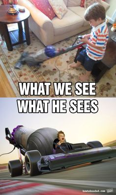 Imagination: what kids see vs what we see.