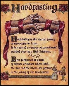 Handfasting.  Pagan marriage, it's beautiful.