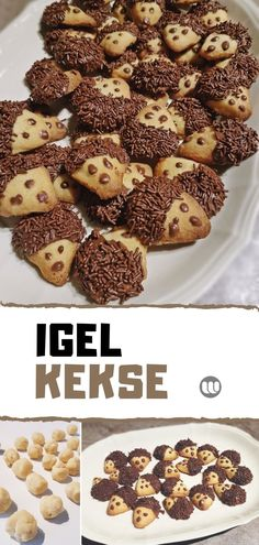 Einfach genial: So leicht backst du süße Igel-Kekse #backen #rezept #igelkekse #herbst #igel #kinder #autumn Easy Smoothie Recipes, Healthy Dessert Recipes, Snack Recipes, Snacks, Cinnamon Cream Cheese Frosting, Cinnamon Cream Cheeses, Fudge Recipes, Cookie Recipes, Peanut Butter Blossom Cookies