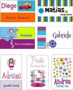 tarjetas de presentacion infantiles - Buscar con Google