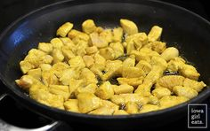 Lick Your Plate Coconut Chicken Curry is so good you'll want to lick your plate! This simple, 1-skillet, gluten-free dinner recipe will be on the table in under 30 minutes.   iowagirleats.com