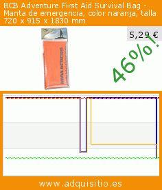 BCB Adventure First Aid Survival Bag - Manta de emergencia, color naranja, talla 720 x 915 x 1830 mm (Deportes). Baja 46%! Precio actual 5,29 €, el precio anterior fue de 9,79 €. https://www.adquisitio.es/bushcraft/bcb-saco-vivac-color
